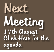 Next   Meeting 17th August Click Here for the agenda