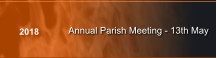 Annual Parish Meeting - 13th May 2018
