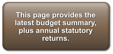 This page provides the latest budget summary, plus annual statutory returns.