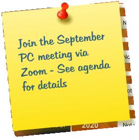 Join the September PC meeting via Zoom - See agenda for details