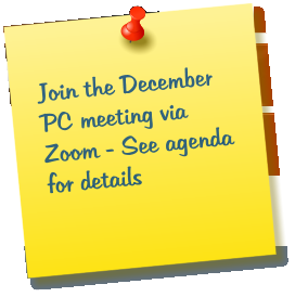 Join the December PC meeting via Zoom - See agenda for details